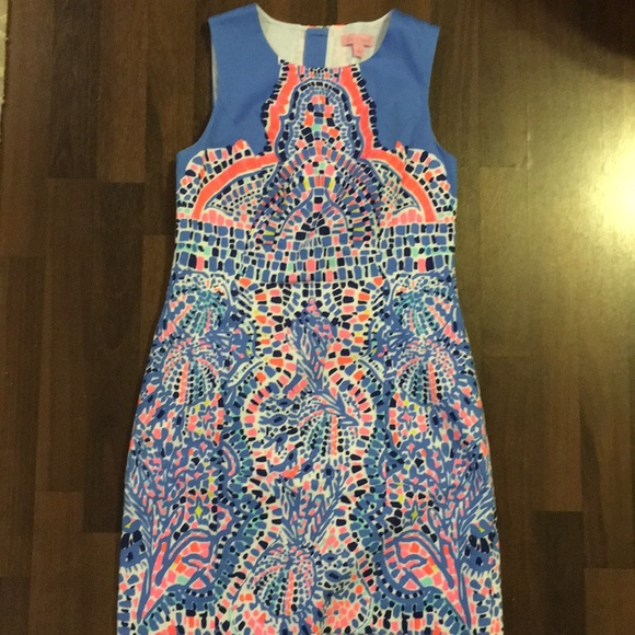 """162dde21aa4a6b Lilly Pulitzer Dresses & Skirts - Lilly Pulitzer Mila shift in """"Tic Tac Tile """""""